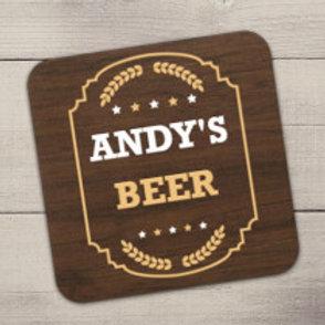 Beer Coaster - Text