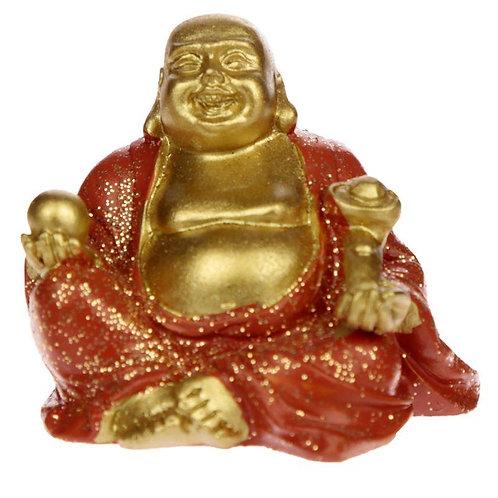 Mini Lucky Buddha (Orange) - Collectable