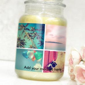 Bottle / Candle Label - 4 Photos & Text