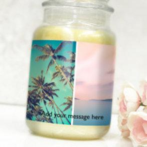 Bottle / Candle Label - 2 Photos & Text