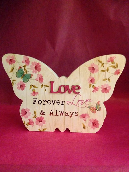 Love - Large Hanging/Standing Butterfly