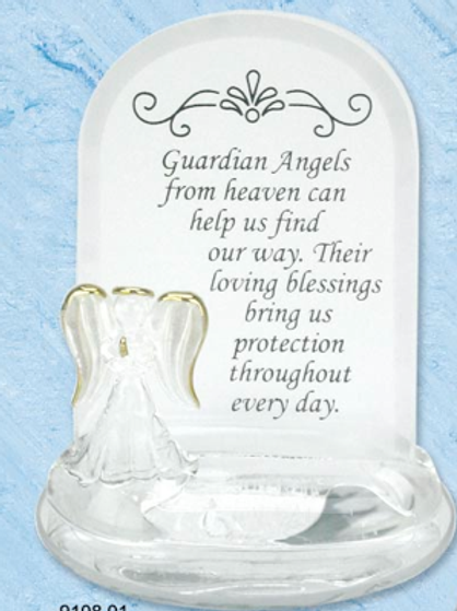 GUARDIAN ANGEL from heaven white plaque
