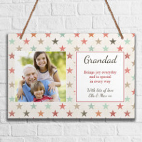 Grandad - Metal Hanging Sign - Photo & Text