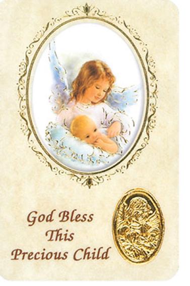 GOD BLESS THIS PRECIOUS CHILD - Keepsake Card