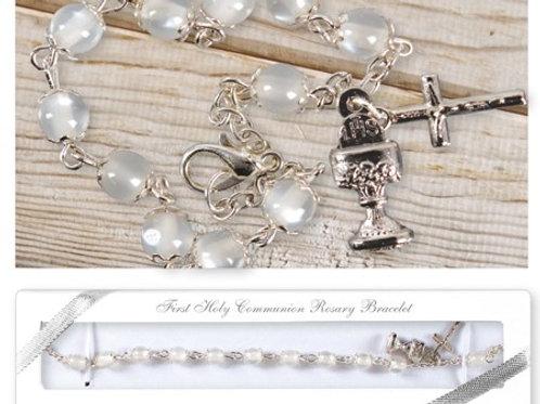 First Holy Communion Rosary Bracelet