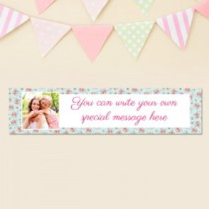 Rose Pattern Banner - Text & Photo