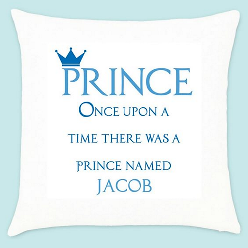 Once upon a Prince - Velvet Cushion