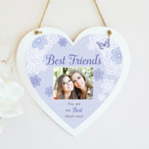 Best Friends Hanging Heart  - Photo