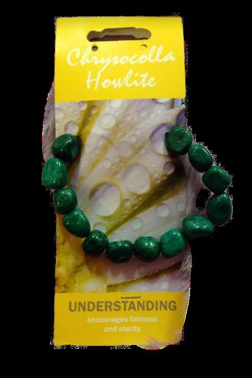 Chrysocolla Howlite Bracelet  - Understanding