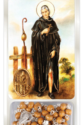Saint Peregrine - Rosary & Prayer Card