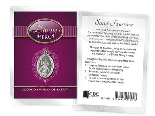 Divine Mercy - Medal (Oxidised) & Leaflet