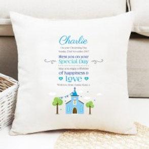 Christening / Holy Communion (Boy) - Velvet Cushion - Name Only