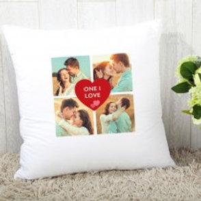 One I Love - Velvet Cushion - Four Photos