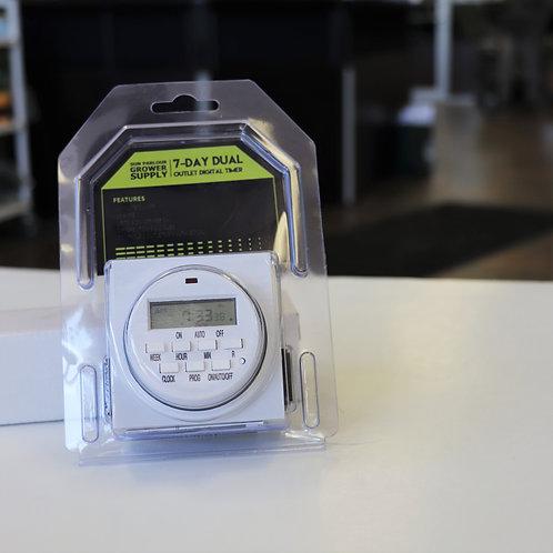 7-Day Dual Outlet Digital Timer
