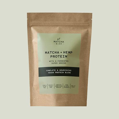 Organic Matcha Hemp Raw Protein Blend | St Matcha