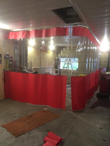 12ft High Spray Booth Curtains  (Industrial Track Fitting Kit)