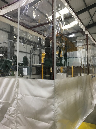 10ft High Workshop Divider Curtains  (Industrial Track Fitting Kit)