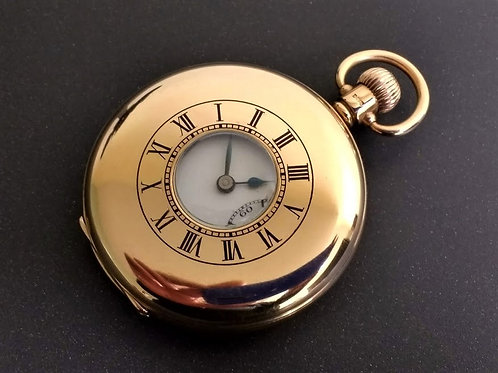 Swiss 15 jewel solid 9ct gold pocket watch