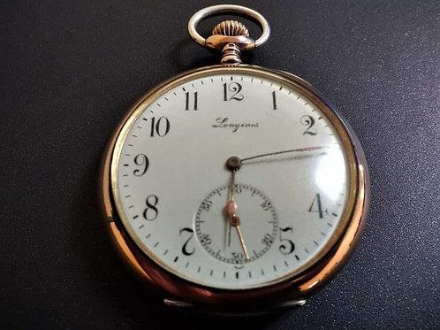 longines silver pocket watch