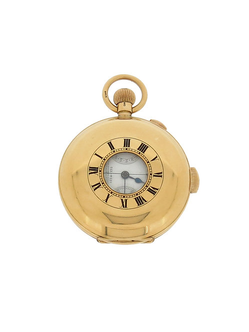 18ct Gold Minute Repeater Chronograph Half Hunter Pocket Watch