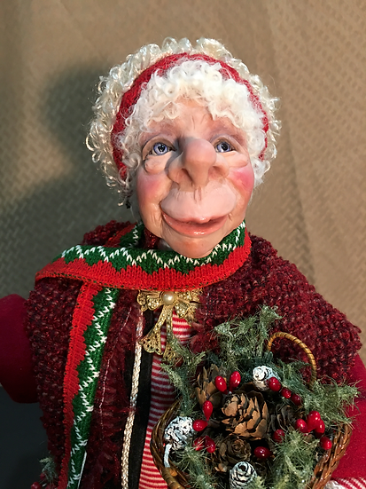 Mrs Claus  with Basket -