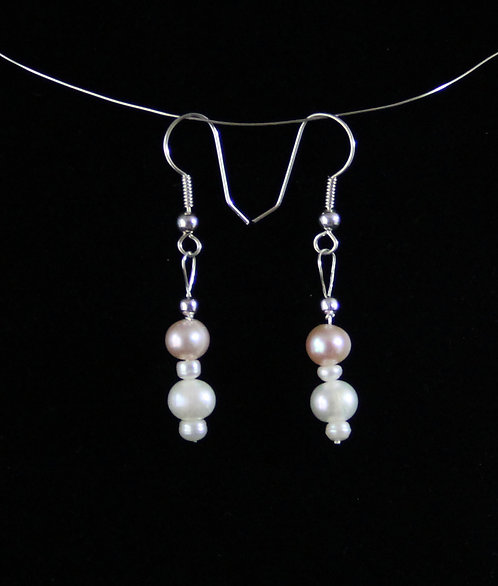 Cultured Pearl earrings on Sterling Silver Wires