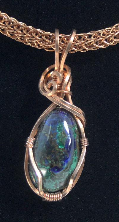Azurite and Malachite Pendant
