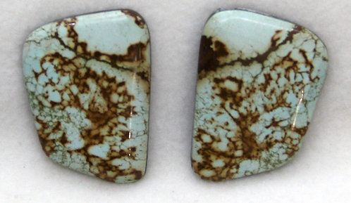 Stunning Matched Pair of Turquoise Cabs