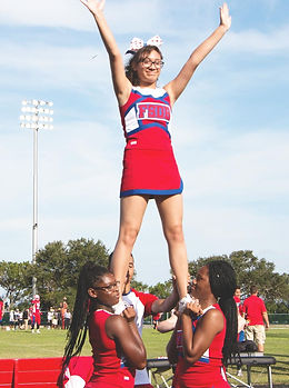 FSDB Cheerleader lifted in air during fo