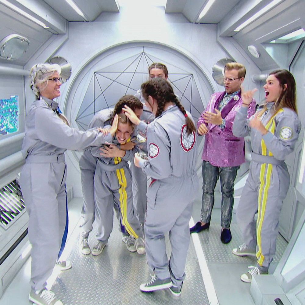 LeFors Family working together inside the Crystal Maze.