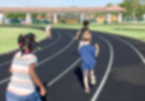 FSDB Students running on the track