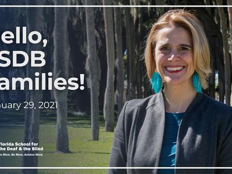 Hello, FSDB Families! –Jan. 29, 2021