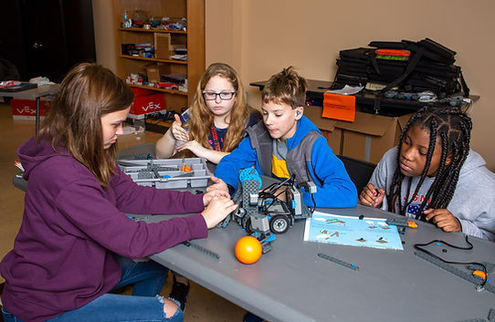Students learning about robotics.