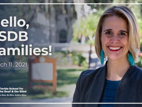 Hello, FSDB Families! –March 11, 2021