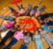 FSDB Deaf elementary girls lie around th