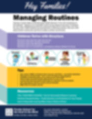 Managing Routines Flyer