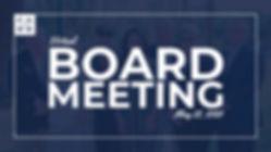 Virtual Board Meeting May 22, 2020 Poster