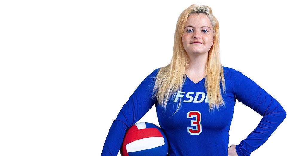 Nolan Fisher in her volleyball uniform.