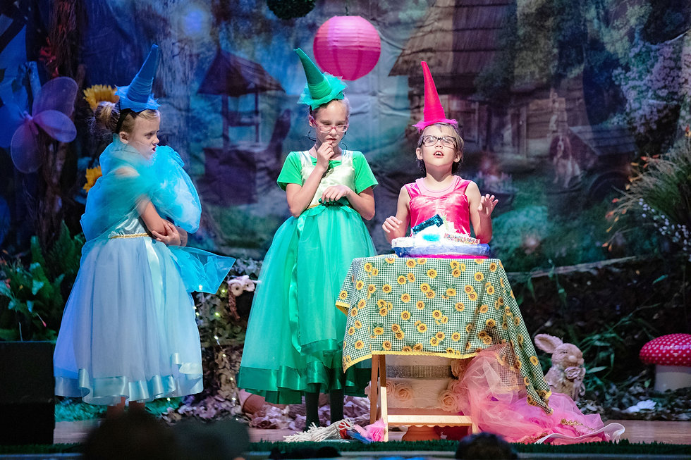 Blind elementary students performing Sleeping Beauty