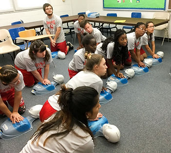 FSDB High School students learning CPR