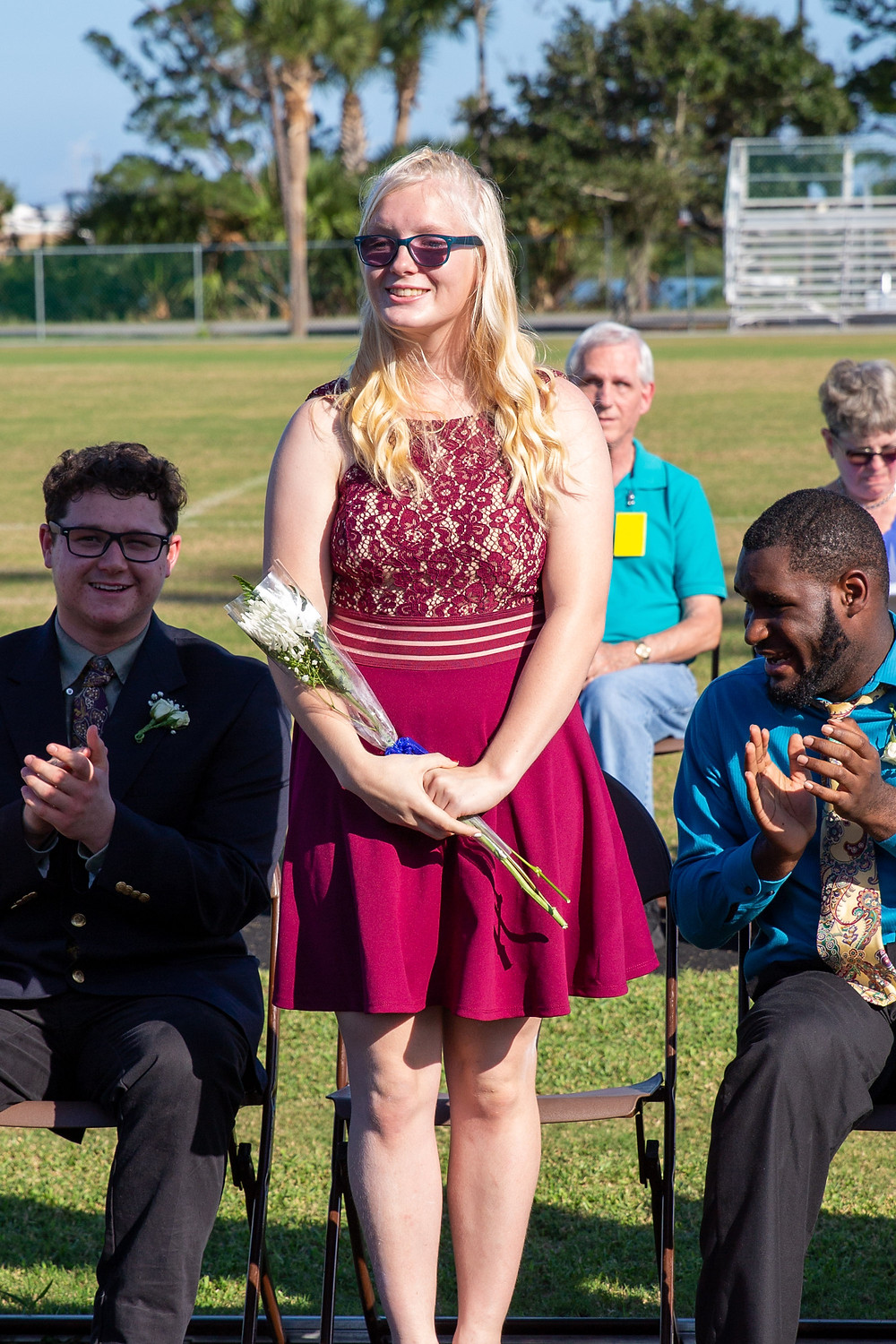 Veronica Hyatt on Blind Homecoming Court 2019.