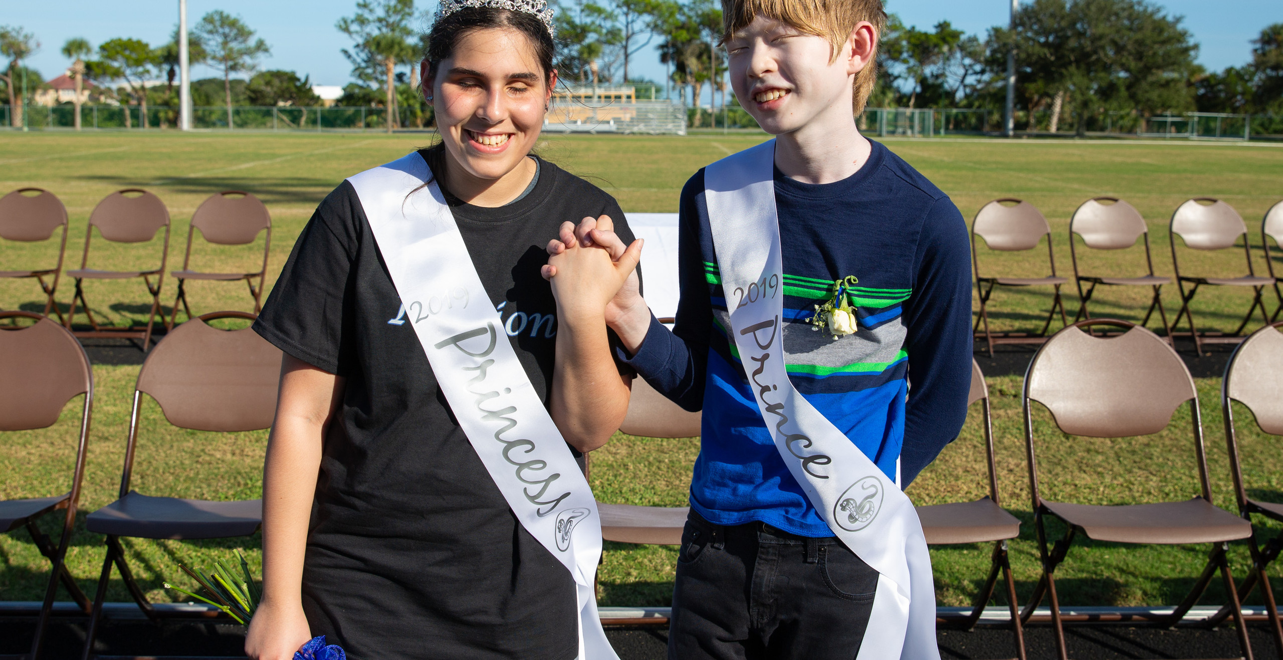 Homecoming Princess Natalie Cruz and Prince Tristan Brennan