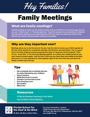 Hey Families-Family Meetings Flyer