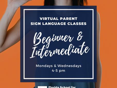 Virtual Parent Sign Language Classes