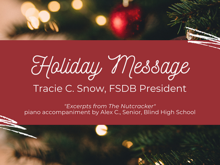 Holiday Message from the President