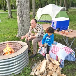 Camping - Manistee River and Gun Lake, Michigan