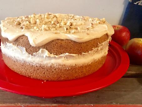 Walnut and Cinnamon Cake with Caramel Buttercream