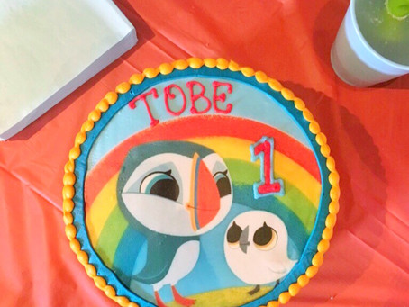 Tobe's 1st Birthday - A Puffin Rock Themed Party.