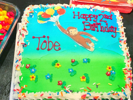 Tobe's 2nd Birthday Adventure with Curious George