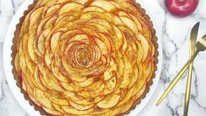 Apple Pumpkin Rose Tart